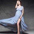 Moda Maternidade Fotografia Props Fantasia Vestidos De Maternidade Grávidas Roupas Fotografia Vestido de Chiffon Maxi Vestido de Maternidade