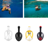 Anti Fog Full Face Snorkeling Mask Diving Snorkel Free Breath Dive Gear Tube Swimming Training Mask For Gopro Camera