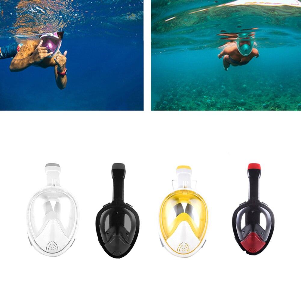 Masque de plongée Anti-buée visage complet masque de plongée tuba respiration libre Tube de plongée masque d'entraînement de natation pour caméra Gopro