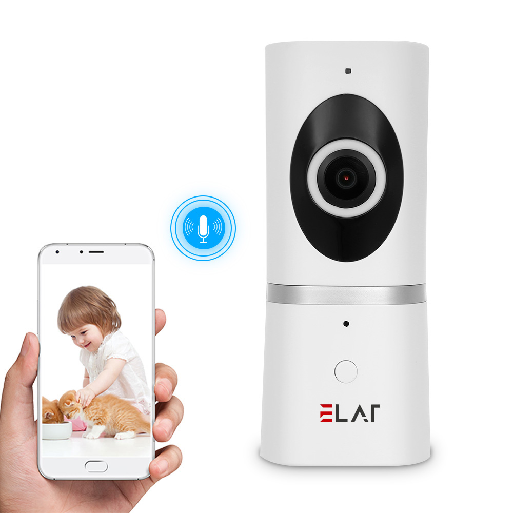 ELAF CCTV Security IP Camera Wireless IP Camera 180 Degree Panoramic Camera FishEye Night Vision 1080P Mini Baby Monitor Wifi new 1080p wifi ip camera panoramic 180 degree view night vision mini wireless baby monitor 2 0mp cctv smart camera security