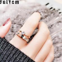 ФОТО ring size 11 double layer rose gold anti allergic letter rhinestone rings for woman wedding got engaged you make my heart smile