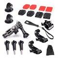 Gopro Accesorios Set Kits Quick Base Adaptador de 3 Vías Brazo de Montaje de Trípode para sj4000 sjcam sj6000 gopro 4 3 xiaomi yi 4 k eken h9r