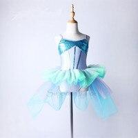Kız Kadın Mermaid Özel Etek Ile Bale Elbise Çocuklar Yetişkin Modern Dans Kostüm C95