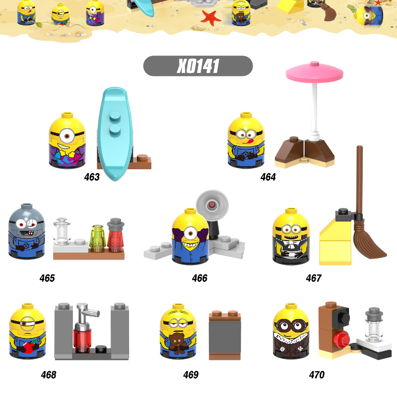 Super Heroes Space Wars Cartoon Anime Movie New Minions Despicable Me Bricks Building Blocks Collection Toys For Children X0141