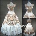 Envío gratis por encargo del vestido del Victorian Corset Gothic / Civil War Southern Belle balón vestido de Lolita del Vintage cosplay