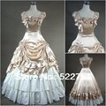Free shipping  Custom made Victorian Corset Dress Gothic/Civil War Southern Belle Ball Gown Lolita  Vintage cosplay Costume