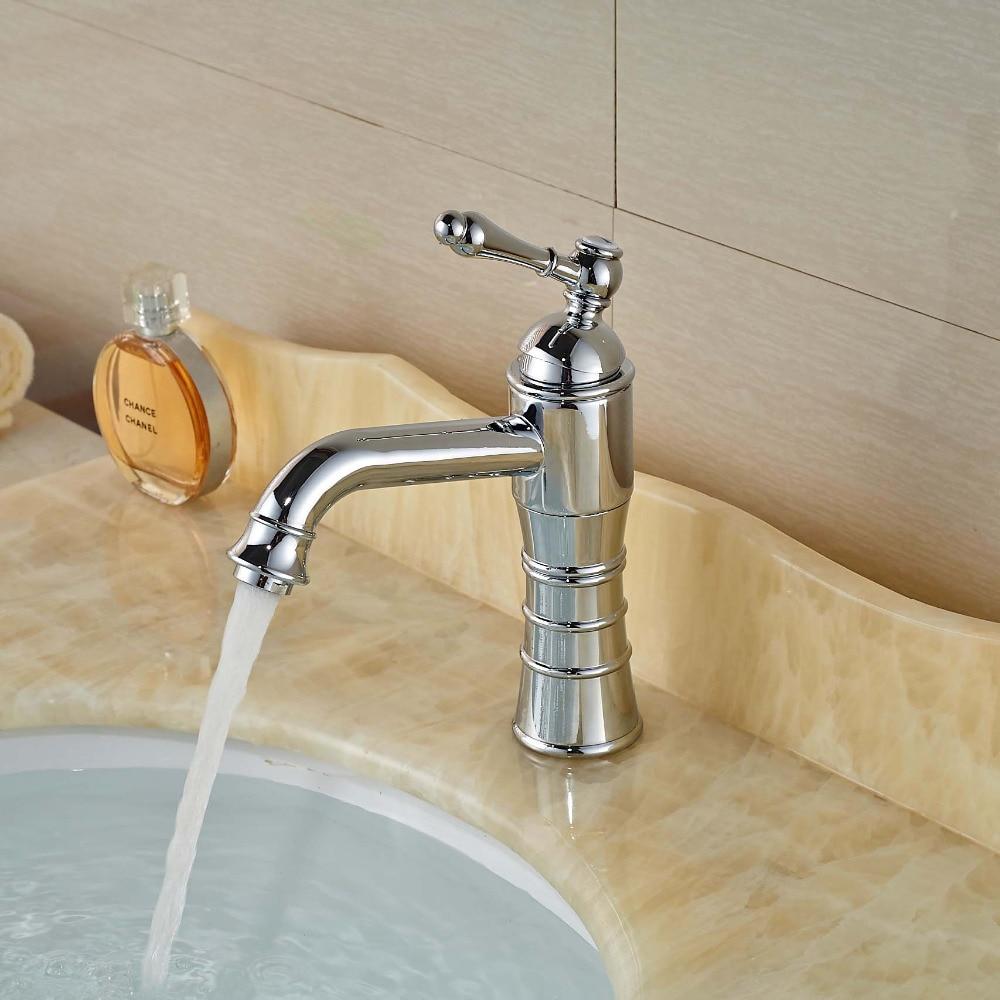 ФОТО Bathroom Basin Sink Faucet Chrome Brass One Hole Mixer Tap