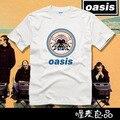2017 музыкальная группа с коротким рукавом футболки Oasis Рок-Н-Ролл панк heavy metal музыка высокого качества бесплатная доставка