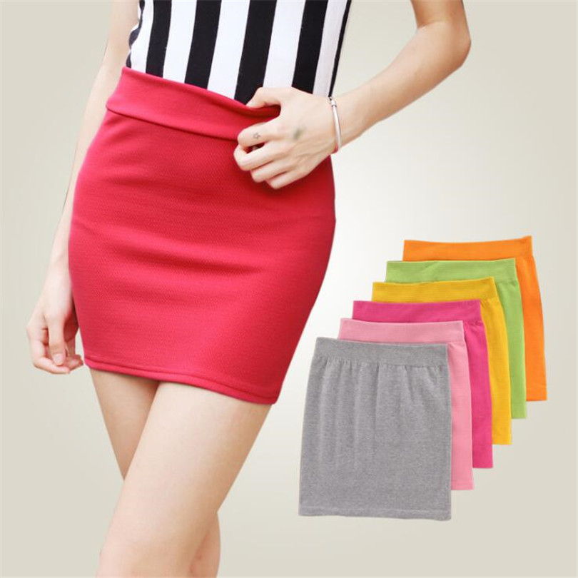 YGYEEG 2020 Fashion Women Casual Empire Packet Buttock Short Skirts Sexy Lady Candy Color Solid Mini-Skirt  Free Shipping D008