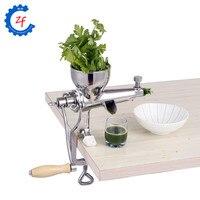 Rvs hand tarwegras juicer handleiding vijzel trage squeezer fruit tarwegras groente orange sapcentrifuge machine