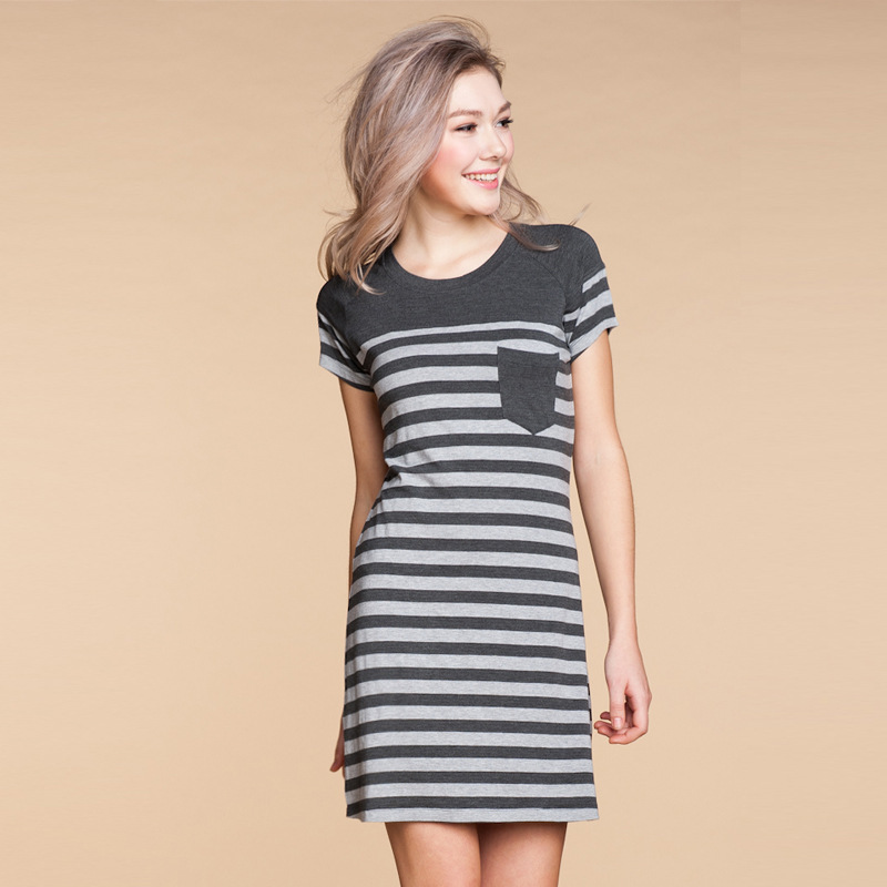 2014 new arrival women casual sleep dress modal fabric pocket ...