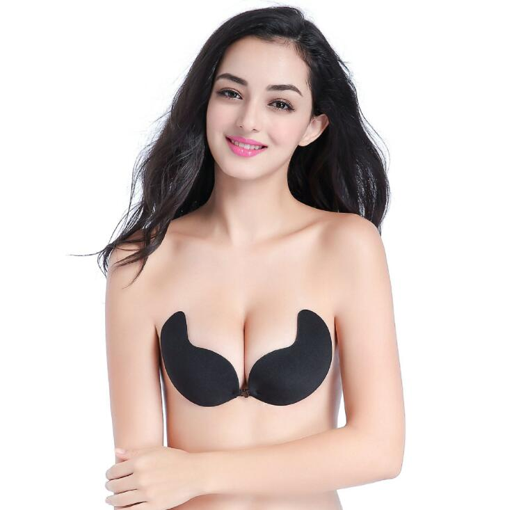 77d4e75e9de76 Fly Bra Strapless Silicone Push Up Invisible Bra Self Adhesive Backless  Bralette Lift Bralette Plus Size Seamless Bras