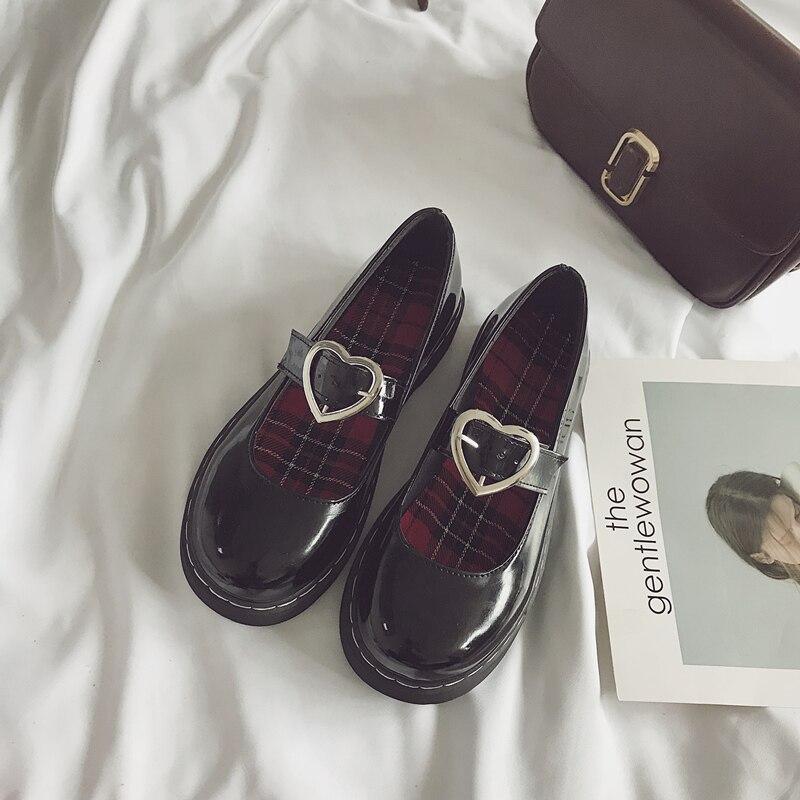 Japonais Fond Chaussures New Profonde Noir Mignon Peu Plates Doux Hot Mou Étudiants pwqxI7A5q