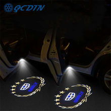 QCDIN for GEELY Atlas Car LED Door Welcome Light Logo Shadow Projector Light for Geely Emgrand Atlas Boyue GL GS Proton X70