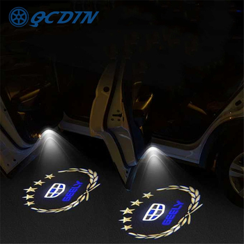 QCDIN for GEELY Atlas OEM LED Car Welcome Light Door Logo Courtesy Lamp Projector Light for Geely Emgrand Atlas Boyue GL GS NL3 фото