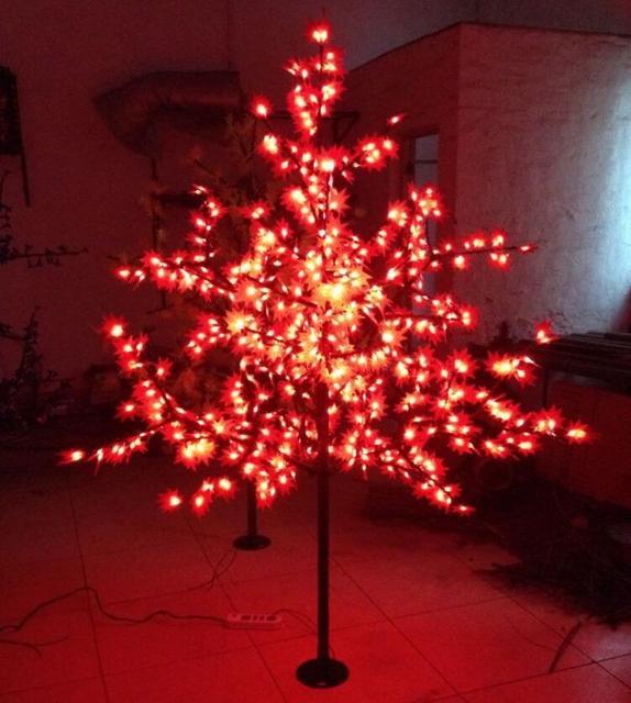 Free Shipping 1.5Meter high 636leds outdoor artificial christmas trees  led maple leaf lights AC110V/AC220V/AC230V/240V