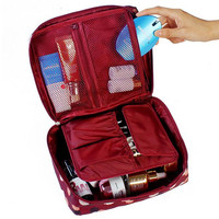 Large Capacity Cosmetic Bag Fashion Travel Wash Bag Makeup Organizer Beauty Products Brushes Lipstick Toiletry Storage