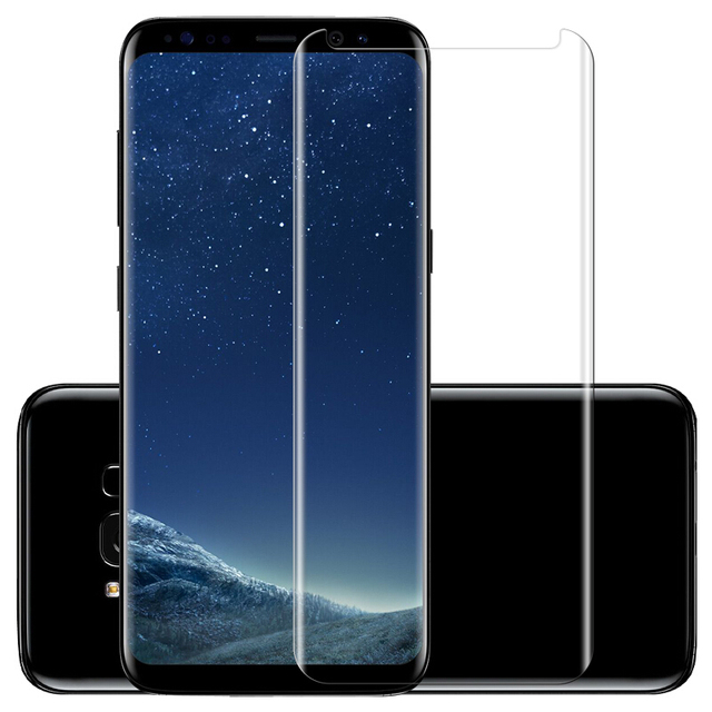 3D Curved Full Cover Fit on Phone Case Screen Protector Protective Glass for Samsung Galaxy S8 S9 Plus 9H Tempered Glass