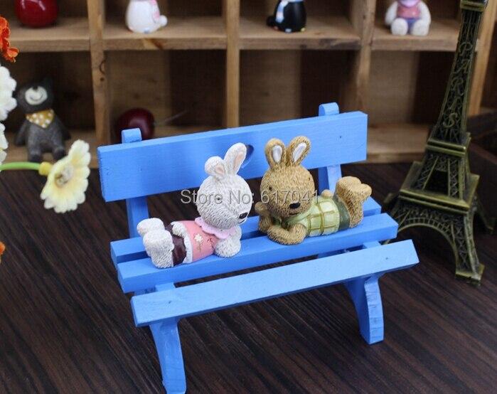 Mini banco lindo de madera hechos A Mano accesorios de Tiro de fondo para la fot