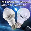PIR Motion Sensor Lamp 5w LED Bulb 7w LEDs 9w Auto Smart LED light bulbs Or Sound Voice Light E27 Motion Sensor Light LED lamp