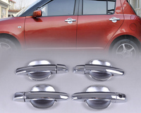 New Chrome Door Handle Cover Cup Bowl Combo For Suzuki Swift 2005 2006 2007 2008 2009