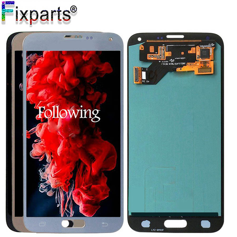 <font><b>Super</b></font> <font><b>AMOLED</b></font> LCD <font><b>S5</b></font> Neo For <font><b>Samsung</b></font> <font><b>S5</b></font> NEO LCD <font><b>Display</b></font> G903 G903F <font><b>Display</b></font> Touch Screen Digitizer Assembly S5Neo LCD Replacement image