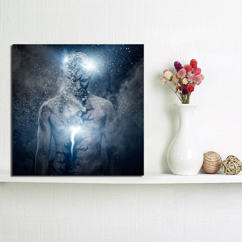 Creator Of The Universe Canvas Painting Print Abstract Living Room Home Decor Modern Wall Art Oil Painting Poster Salon Pictures in Painting Calligraphy from Home Garden