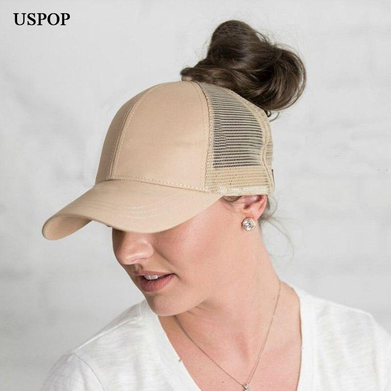 USPOP 2018 брендовые Модные женские хвост бейсболка летние женские сетчатые  Шапки Повседневная Регулируемый Козырек Кепка 49ee92d95ffa2