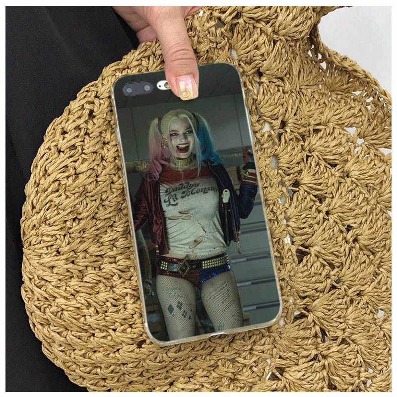 自殺分隊ハーレークインジョーカー映画ソフトシリコーン Coque iphone 8 7 6 6 S プラス X XS XR XSmax 7 プラス 8 プラスカバー