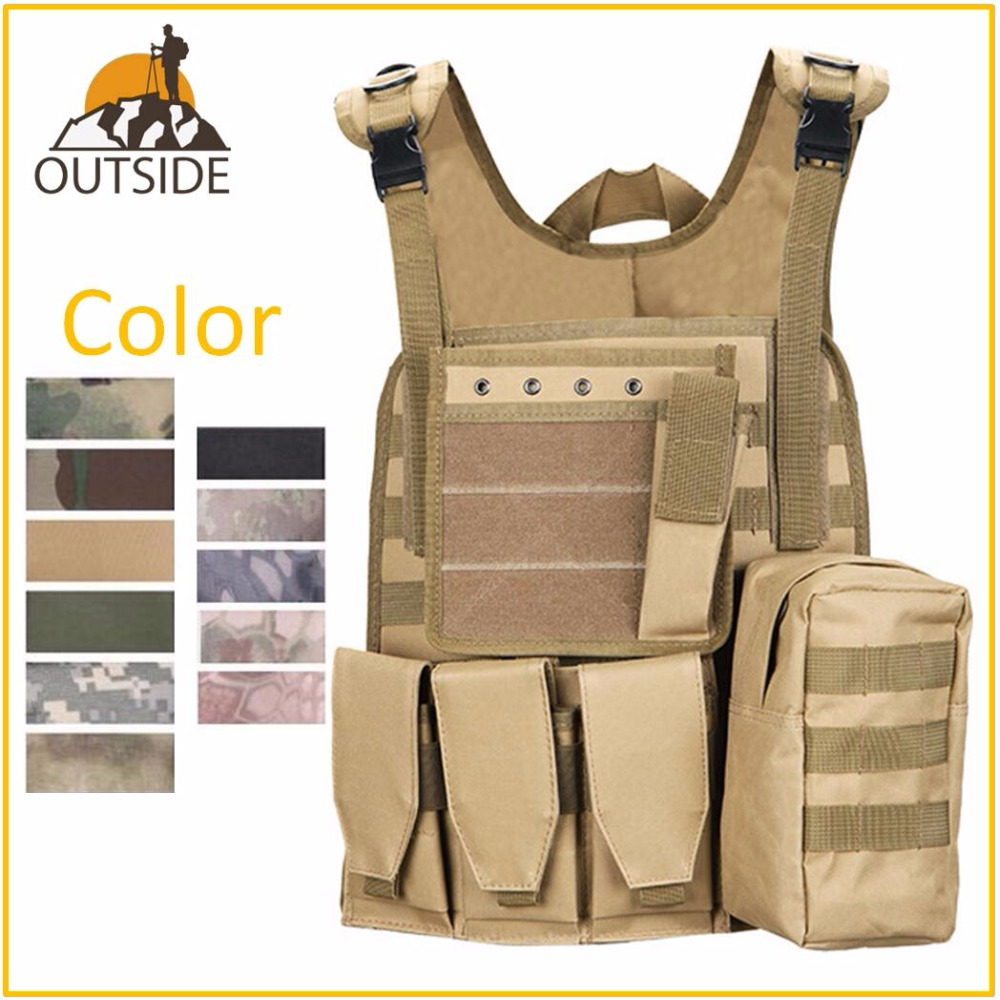 Quality Tactical Vest Amphibious Battle Military Molle Waistcoat Combat Assault Plate Carrier Hunting Protection Vest CamouflageQuality Tactical Vest Amphibious Battle Military Molle Waistcoat Combat Assault Plate Carrier Hunting Protection Vest Camouflage