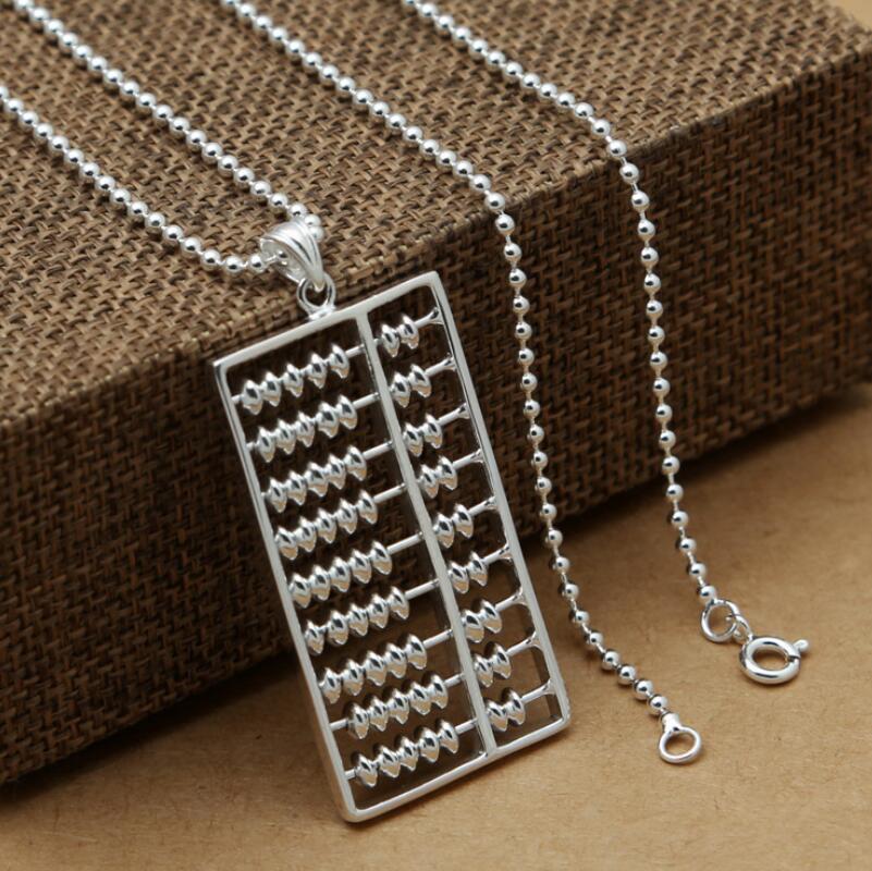 925 bijoux en argent sterling simple boulier hommes et femmes pendentif (FGL)925 bijoux en argent sterling simple boulier hommes et femmes pendentif (FGL)