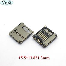 YuXi 1pcs SIM Card Reader Tray Connector for Samsung P100 W899 S5570 S5660 C3222 S5750 15.5*13.8*1.3mm(China)