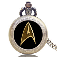 Hot Movies Star Trek Extension High Quality Bronze With Black Case Pocket Watch Free Shipping Gift
