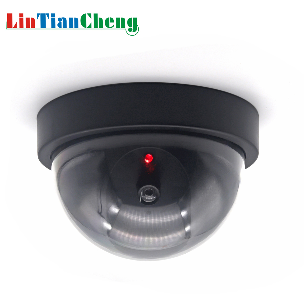 LINTIANCHENG Fake Dummy Camera Dome CCTV Surveillance Outdoor Street Miniature Security Camera With Led Light Free Shipping