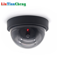 LINTIANCHENG Fake Dummy Camera Dome CCTV Surveillance Outdoor Street Miniature Security Camera With Led Light Free Shipping free shipping universal metal white wall mount stand bracket for cctv security camera