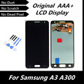 100% probado LCD Original para Samsung Galaxy A3 A300 A3000 pantalla LCD táctil digitalizador de Color azul oscuro piezas de repuesto