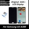 100% testado Original LCD para Samsung Galaxy A3 A300 A3000 LCD tela de toque digitador azul escuro cor peças de reposição