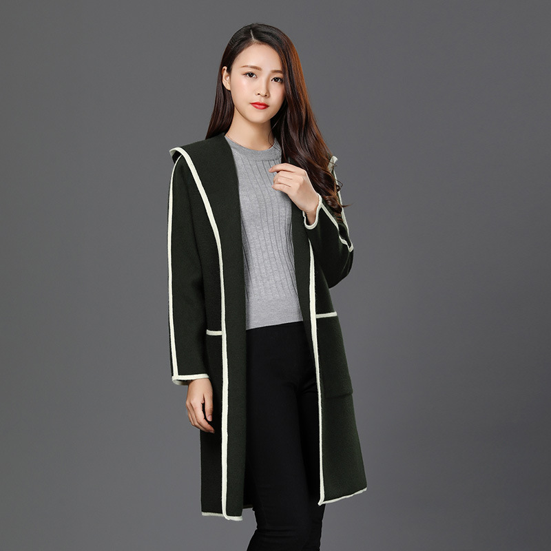 Danjeaner Новая горячая распродажа Женские Шерстяное пальто Высокое качество зимняя куртка Для женщин Тонкий шерстяной длинное кашемировое па
