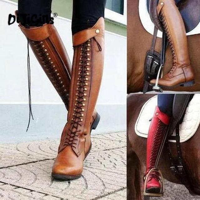 Dijigirls Sopra Il Ginocchio Stivali Alti Delle Donne di Modo Scarpe Per L'autunno Nuovo Stivali Da Equitazione Casual Stile Scarpe Trasporto di Goccia