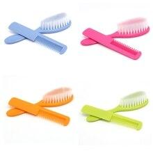 2Pcs Baby Safety Soft Hair Brush Set SUPER HOT SALE Infant Comb Grooming Shower Design Pack Oct26 Drop Ship