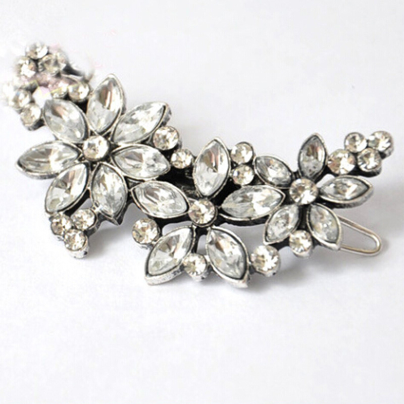 2017 New Hot Beautiful Crystal Rhinestone Ponytail Hair Ornaments Hair Clip Hairpin For Girls Women Fashion Hair Accessories 85Z