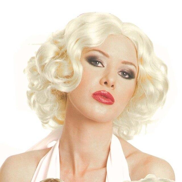 Ladies 80s Material Girl Madonna Blonde Hair Marilyn Monroe Short