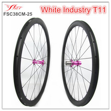 Farsports 38mm 25mm clincher wheelsets with Ti cassettebody White Industry T11 hub 1515g Far Sports U shape carbon wheelsets