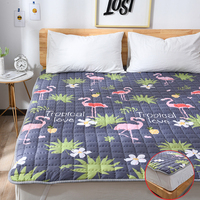 High Quality Printing Foldable Bed Mattress Cover Non Slip Mattress Protector Pad Fitted Sheet Multifunction Bed Coverlets