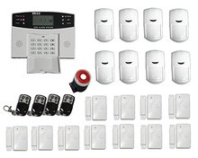 Metallic Distant Management Russian Spanish Italian Voice Residence Safety GSM Wi-fi Safety Alarm System 433MHz PIR/Door Sensor