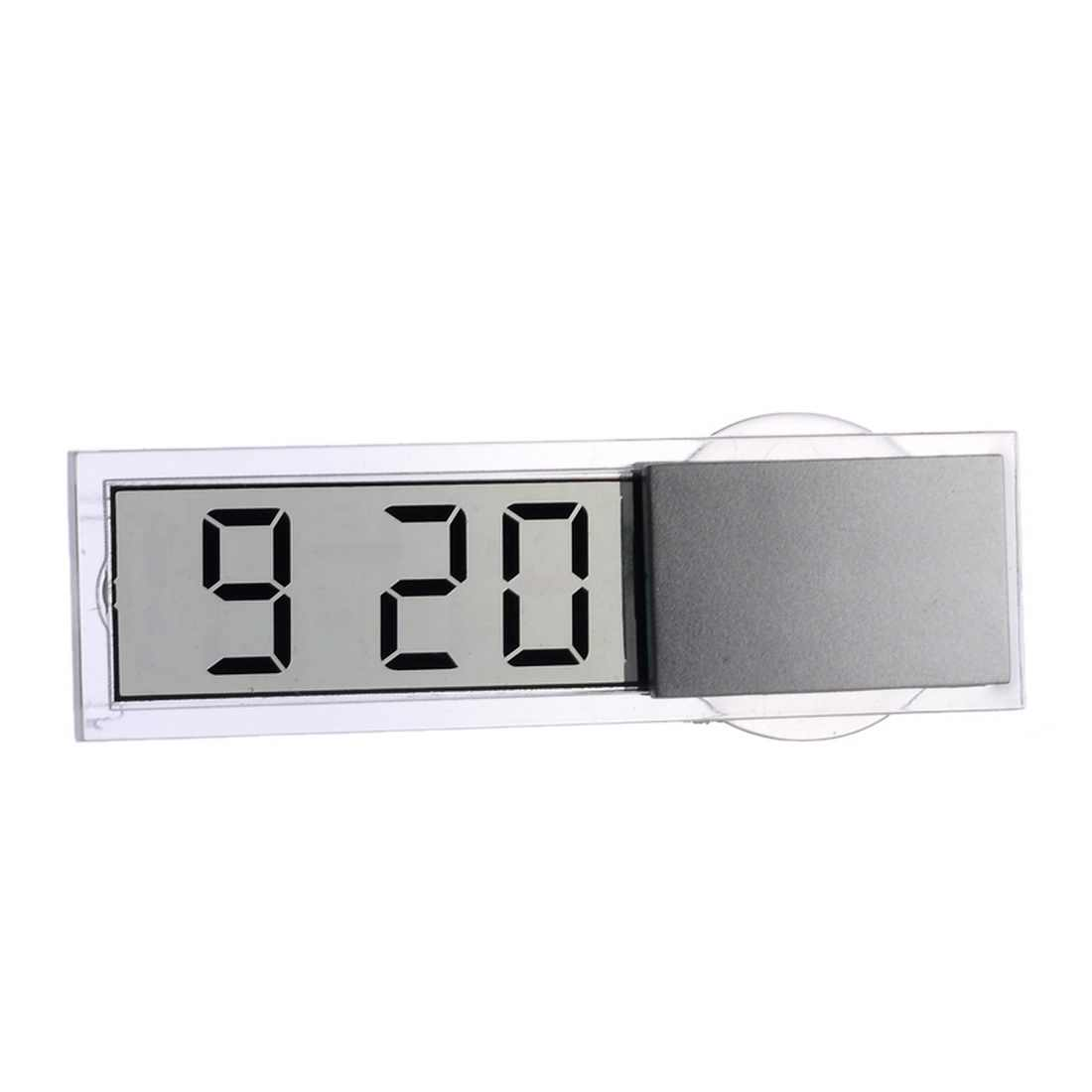 Auto Car Electronic Clock Mini Digital Car Electronic Clock Mini Durable Transparent LCD Display Digital With Sucker Universal