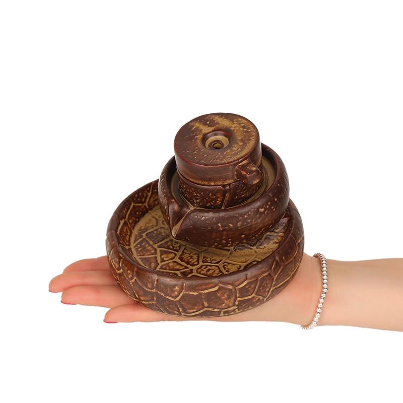 Creativo posteriore cade incenso legno di sandalo incenso disco di pietra Ogni cane ha il suo giorno utensili per il tè. - 4
