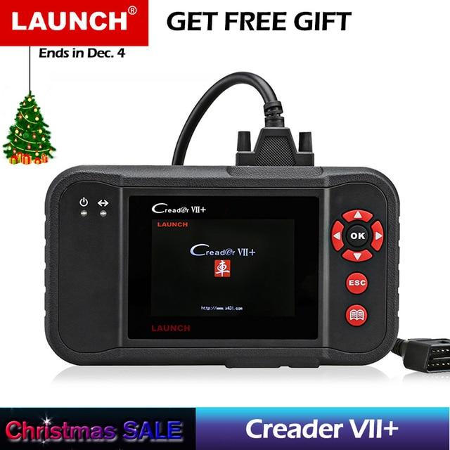 Best Price Original Auto Code Reader Launch X431 Creader VII Plus Update Via Offical Website OBDII Scanner Same as CRP123 code scanner obd2