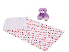 2 Pcs 100% Cotton Flannel Baby Receiving Blankets Swaddle