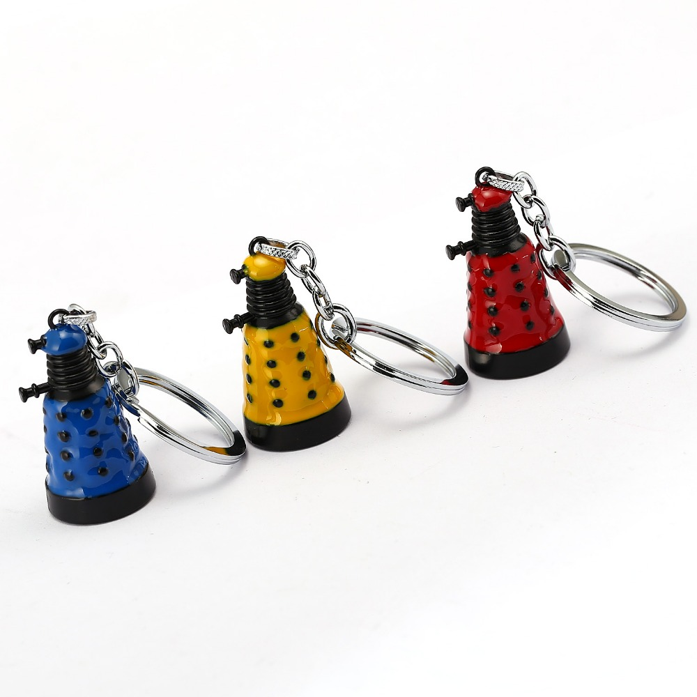 Doctor Who Keychain 3 colors Robot Dalek bell Key Chain Key Ring Holder Pendant Chaveiro Movie Jewelry Souvenir ...